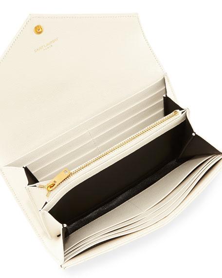 yves large monogram saint laurent flap wallet