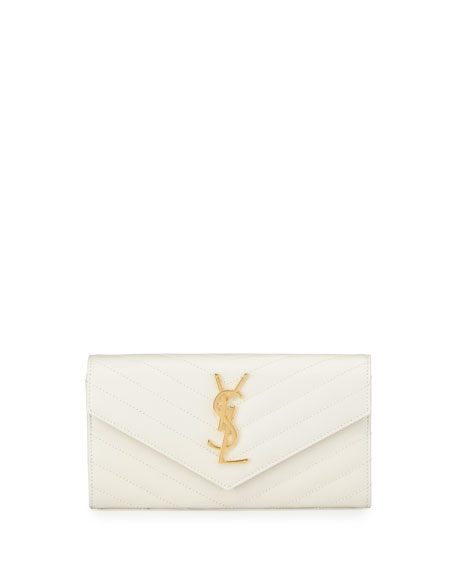 Saint Laurent Monogram Leather Large Flap Continental Wallet,