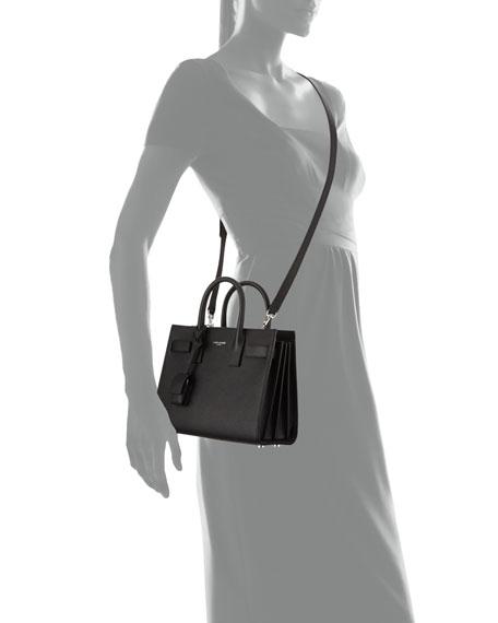Sac de Jour Nano Leather Satchel Bag Black