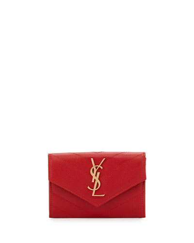Mini V-Flap French Wallet, Red