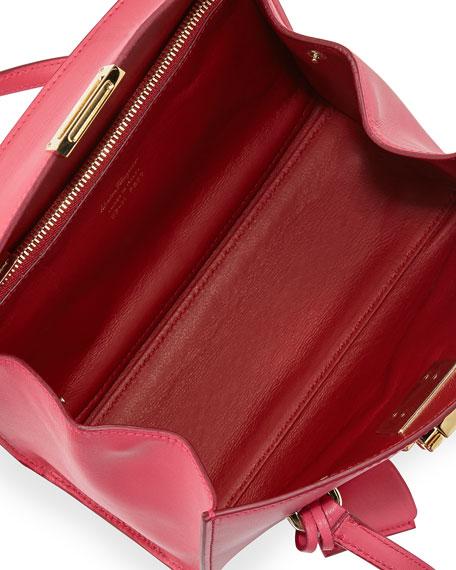 Mara Lock Story Mini Satchel Bag, Framboise