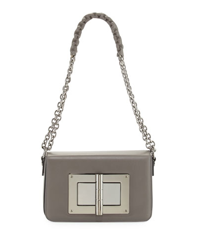 Natalia Medium Chain Crossbody Bag, Graphite