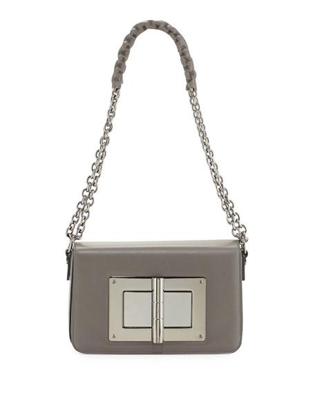 TOM FORD Natalia Medium Chain Crossbody Bag, Graphite