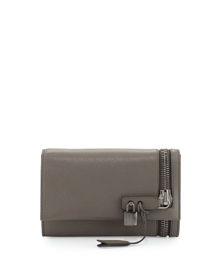 TOM FORD Alix Crossbody Clutch Bag, Graphite