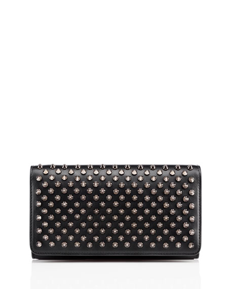 Christian Louboutin Macaron Spiked Flap Wallet, Black