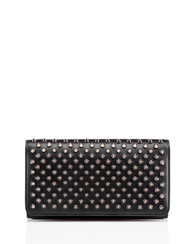 f95c937083d Macaron Spiked Flap Wallet, Black