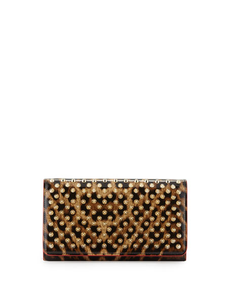 Christian Louboutin Macaron Spiked Patent Wallet,
