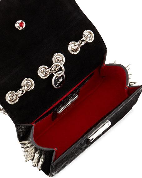 Sweety Charity Spikes Crossbody Bag, Black