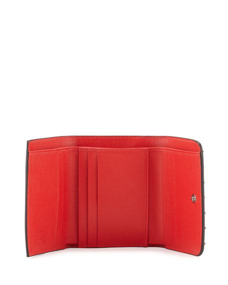 98ec1a309dc Macaron Mini Spiked Flap Wallet Black