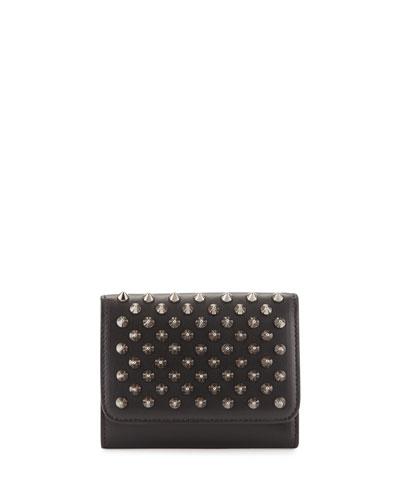 Macaron Mini Spikes Wallet, Black