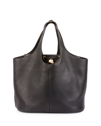 Miranda Medium Tote Bag with Pouch, Black