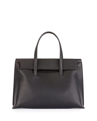 Serena Large Leather Tote Bag, Black