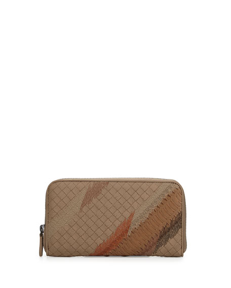Bottega Veneta Continental Zip-Around Wallet, Toffee/Camel
