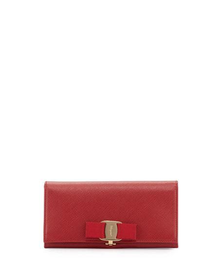 Salvatore Ferragamo Miss Vara Bow Clip Wallet, Rosso