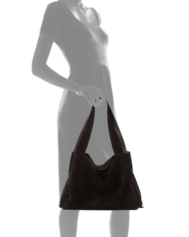 548374585a THE ROW Duplex Suede Satchel Bag