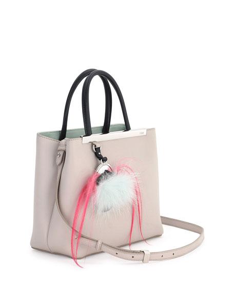2Jours Petite Monster Mirror Satchel Bag, Nude/Black