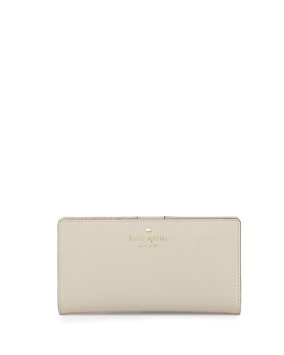 cedar street stacy bi-fold wallet, crisp linen