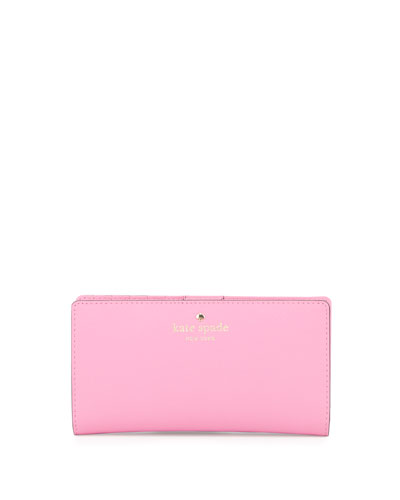 cedar street stacy bi-fold wallet, rouge pink