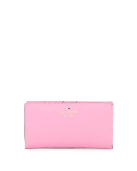kate spade new york cedar street stacy bi-fold wallet, rouge pink