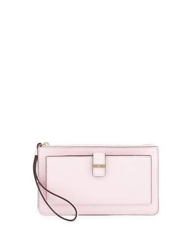 cedar street karolina wristlet wallet, pink blush