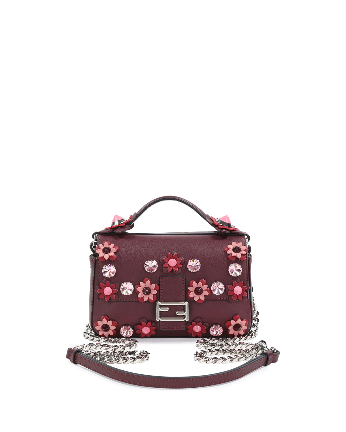 b46b5abd7c2b Fendi Baguette Micro Double-Sided Flower Bag
