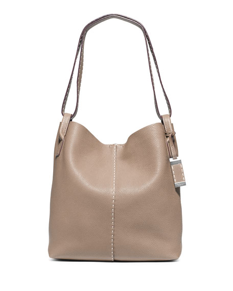 Michael Kors Rogers Large Slouchy Hobo Bag, Dark Taupe