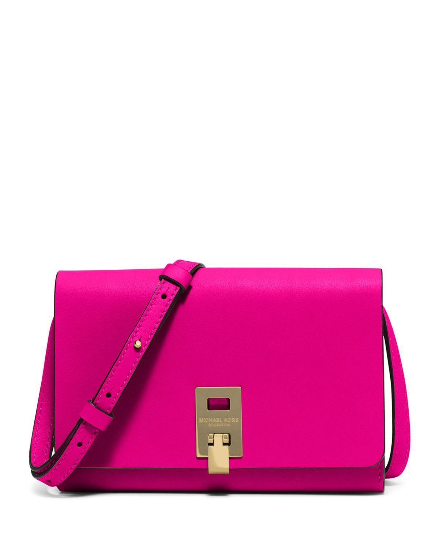 7109af9565dc Michael Kors Miranda Medium Wallet-on-a-Strap, Geranium | Neiman Marcus