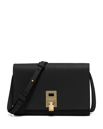 Miranda Medium Wallet-on-a-Strap, Black
