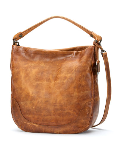 Melissa Leather Hobo Bag, Cognac