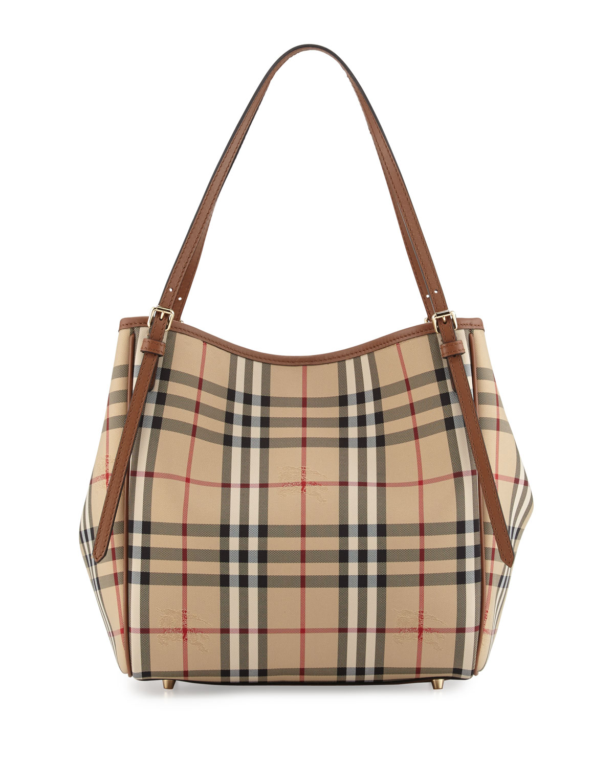 Canterbury Horseferry Check Tote Bag Honey Tan