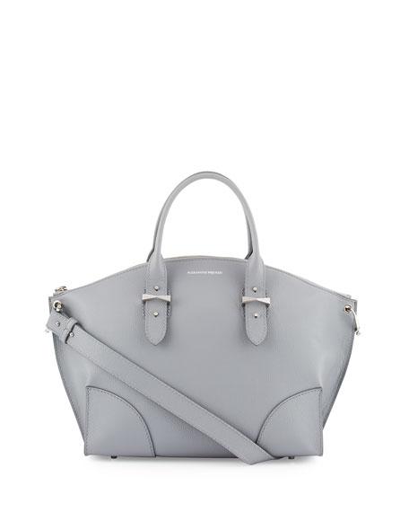 Alexander McQueen Legend Calfskin Tote Bag, Gray Melange
