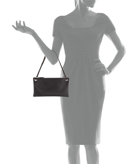Happy Hour 10 Leather Pouch Shoulder Bag, Black
