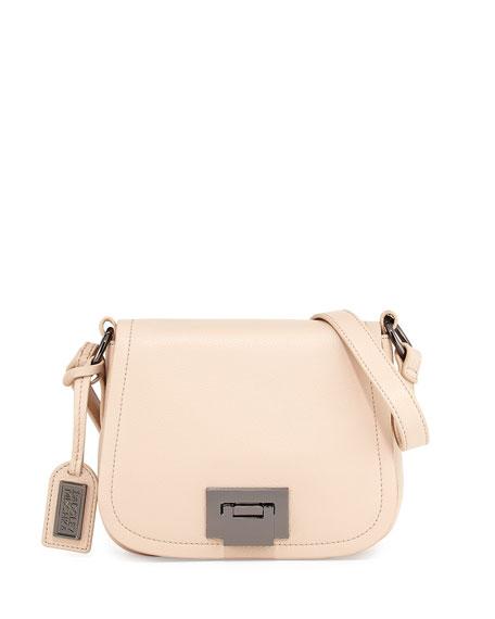 Badgley Mischka Collection Tessa Leather Crossbody Bag, Latte