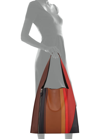Estia Sensua Leather Hobo Bag, Burning Lines