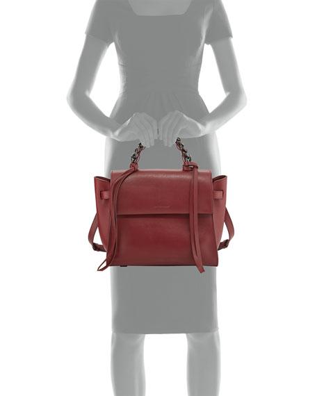 Elena Ghisellini Angel Sensua Medium Satchel Bag Bordeaux