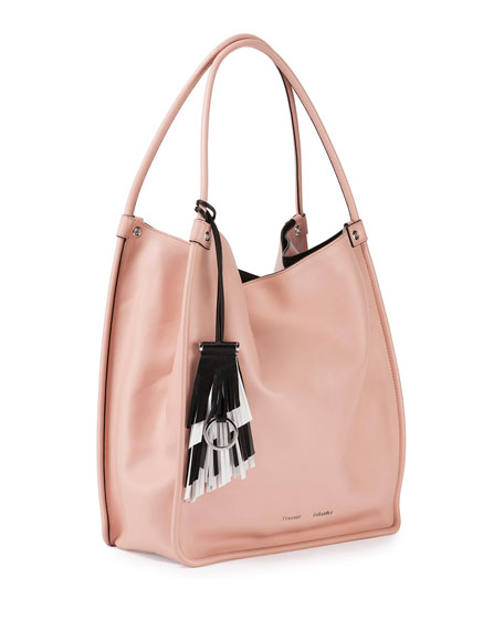 Medium Soft Leather Tote Bag, Bare