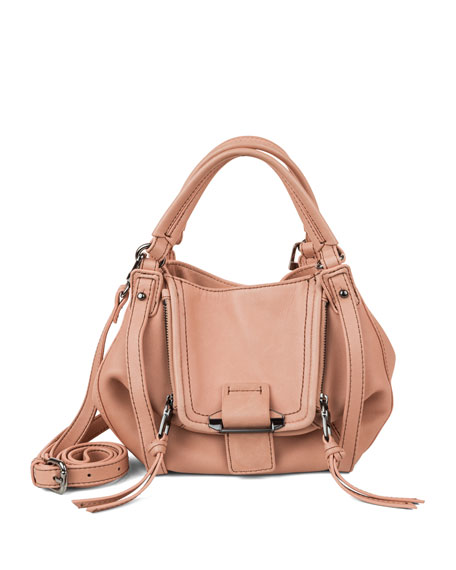Kooba Mini Jonnie Leather Hobo Bag, Coral