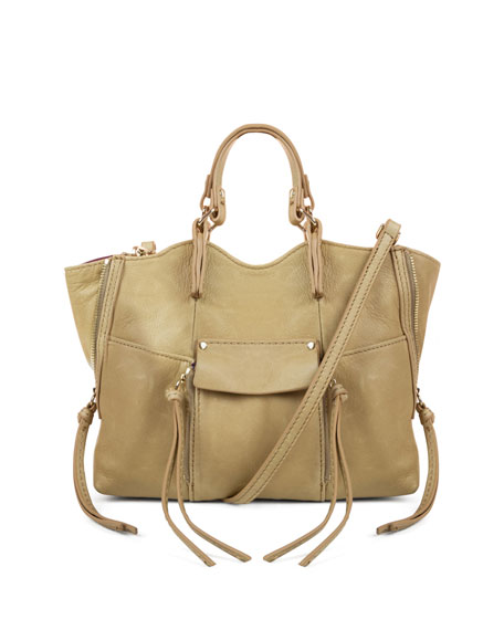 Kooba Everette Mini Leather Crossbody Bag, Sand