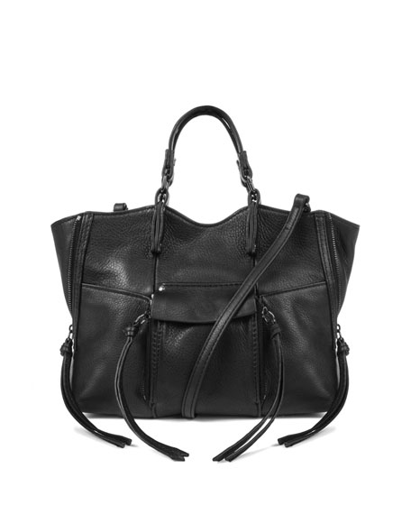 Kooba Everette Mini Leather Crossbody Bag, Black