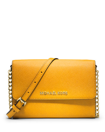 Jet Set Travel Crossbody Phone Case/Wallet, Sun Yellow