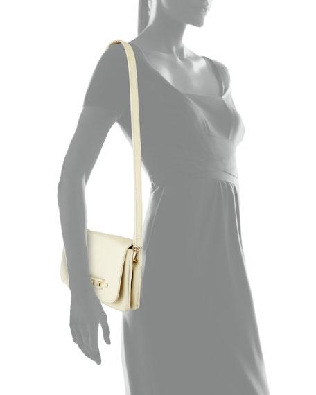Raider Fold-Over Clutch Bag, Stone
