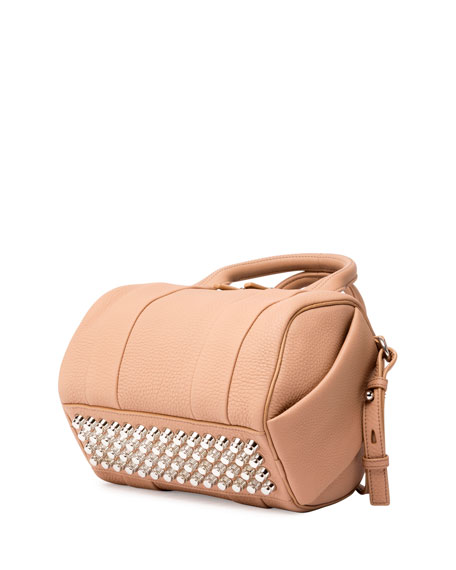 Mini Rockie Matte Pebbled Duffel Bag, Truffle