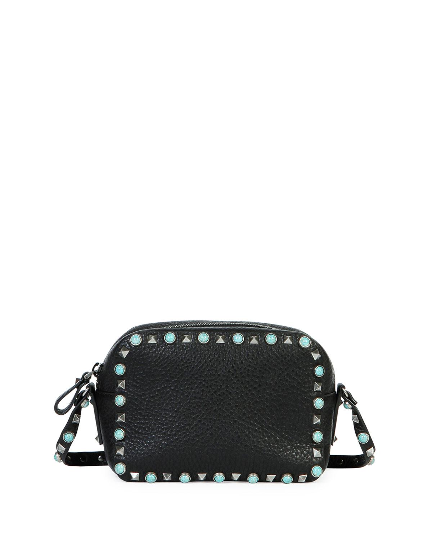 97967360e25f Valentino Garavani Rockstud Rolling Small Zip-Top Camera Bag