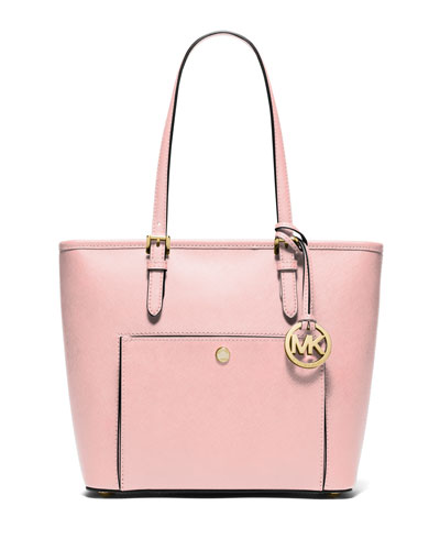 Jet Set Item Medium Saffiano Tote Bag, Blossom