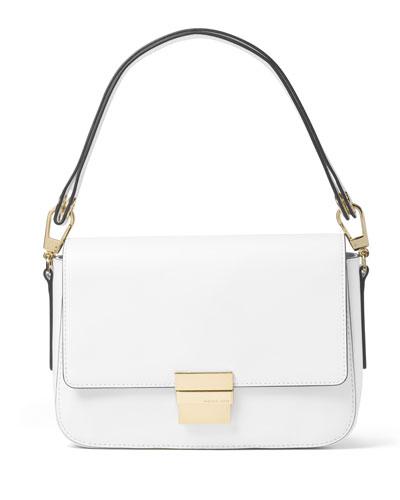 Madelyn Large Convertible Shoulder Bag, Optic White