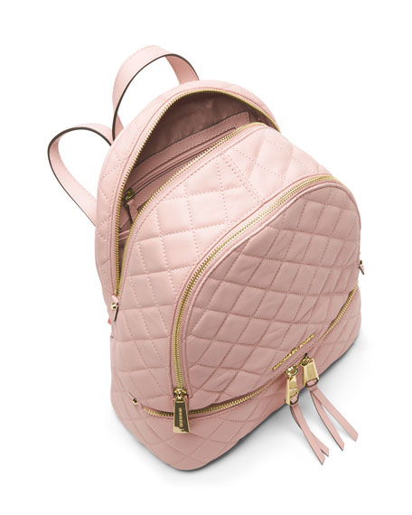 89be78967391 MICHAEL Michael Kors Rhea Medium Quilted Backpack, Blossom