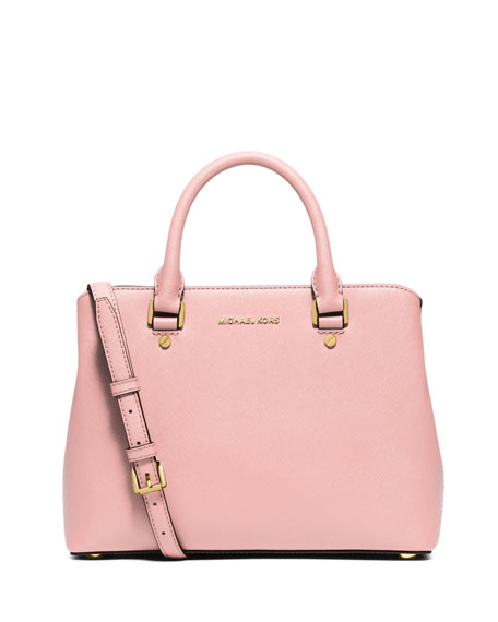 MICHAEL Michael KorsSavannah Medium Saffiano Satchel Bag, Blossom