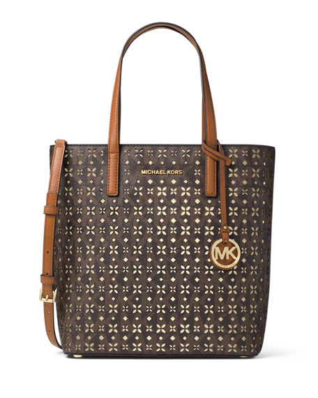 MICHAEL Michael KorsHayley Medium Laser-Cut Logo Tote Bag,