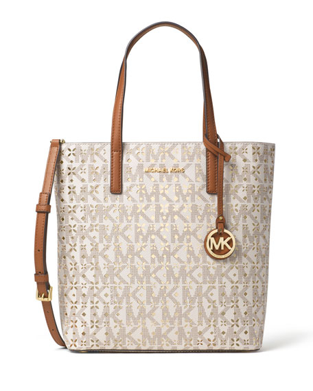 MICHAEL Michael Kors Hayley Medium Laser-Cut Logo Tote