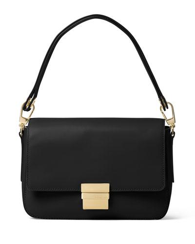 Madelyn Large Convertible Shoulder Bag, Black
